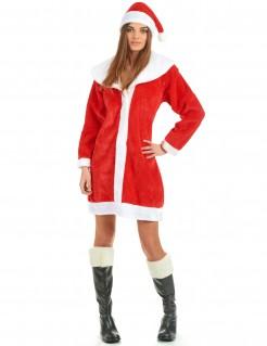 Weihnachtsfrau Damenkostüm Weihnachten rot-weiss