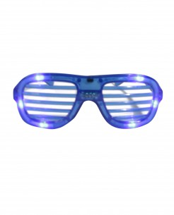 LED-Brille Kostümaccessoire blau
