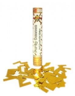 Konfetti-Kanone Goldplättchen Partydeko bunt 30cm