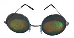 Partybrille Hologramm mit Kürbis-Motiv