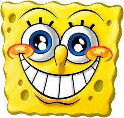 Spongebob Schwammkopf™-Pappmaske Lizenzartikel gelb
