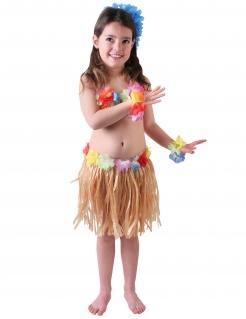 Hula-Tänzerin Hawaiikostüm für Mädchen bunt