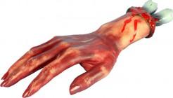 Abgeschnittene Hand Halloween Party-Deko rot 12x29cm