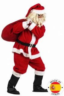 Weihnachtsmann-Herrenkostüm Nikolaus weiß-rot