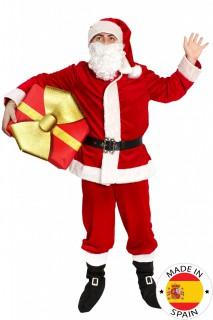 Premium Santa Claus-Erwachsenenkostüm Weihnachtsmann rot-weiss