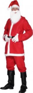 Weihnachtsmann Kostüm weiss-rot