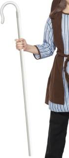 Hirten Stab Kostümzubehör weiss 105cm