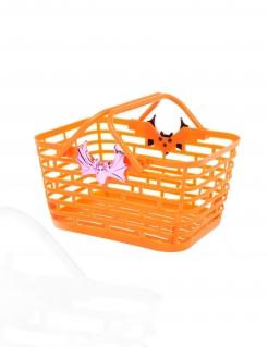 Süßigkeiten-Korb Halloween Deko orange
