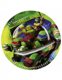 Teenage Mutant Ninja Turtles™ Partyteller Lizenzware 8 Stück bunt 23cm