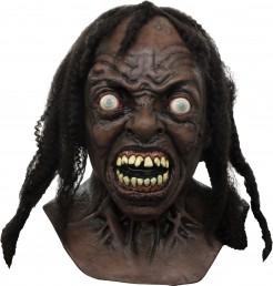 Zombie-Maske World War Z Halloween Lizenzartikel braun-schwarz