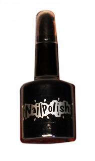 Nagellack- und Lippenstift-Kombination 2 in 1 schwarz