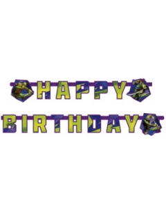 Ninja Turtles™-Geburtstagsgirlande Happy Birthday