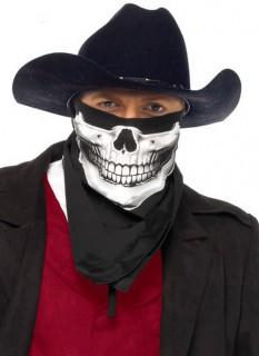 Totenkopf Bandana Kopftuch schwarz-weiss