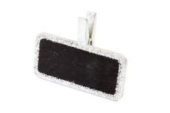 Deko-Wäscheklammern Namenstafel Deko-Accessoire 6 Stück silber-schwarz