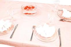 Tischdecke rot 150x240cm