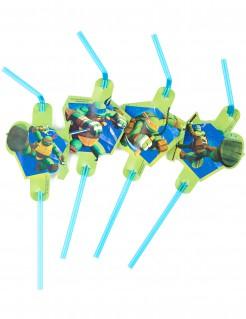 Ninja Turtles™-Strohhalme Lizenzartikel 8 Stück