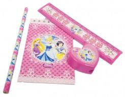 Disney Prinzessinnen Schreibwaren-Set 4-teilig Kindergeburtstag-Mitbringsel bunt