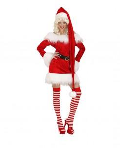 Weihnachtsmütze Zipfelmütze extralang rot-weiss