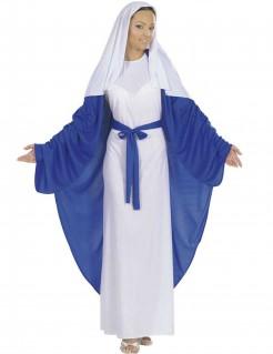 Maria Damenkostüm Krippenspiel blau-weiss
