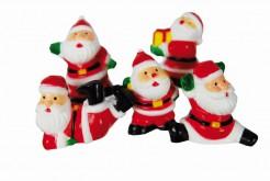 Weihnachtsmann-Kuchendeko 5 Stück rot-bunt 6cm