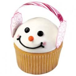 Weihnachtliche Cupcake-Formen mit Ohrenwärmern 12 Stück