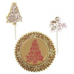 Weihnachtliche Cupcake-Formen Motiv Tannenbaum