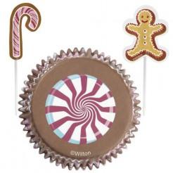 Weihnachtliche Cupcake-Formen Motiv Süssigkeiten