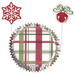 Weihnachtliche Cupcake-Formen Motiv Geschenk