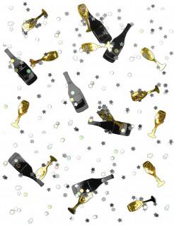 Silvester Konfetti Cheers Party-Deko schwarz-gold 14g