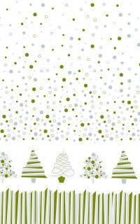 Weihnachtstischdecke Tannenbäume