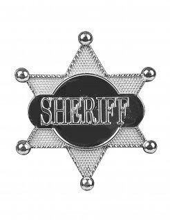Sheriff-Stern Wildwest-Kostüm silber