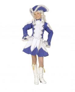 Funkenmariechen Kinderkostüm blau-weiß