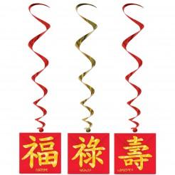 Hängedekorationen Chinesisches Neujahr 3 Stück
