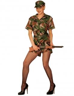 Soldatin Damenkostüm camouflage