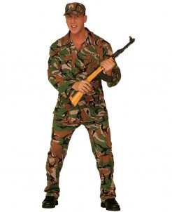 G.I. Soldat Kostüm grün-schwarz