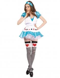 Verführerische Alice Damenkostüm blau-weiss