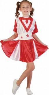 Kleine Cheerleaderin Kinderkostüm rot-weiss