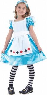 Zauberhafte Alice Märchenkostüm für Kinder blau-weiss