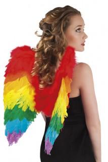 Flügel für Erwachsene Kostümzubehör bunt 50x50cm