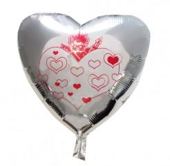 Aluminium-Ballon Herz silber