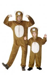 Bären-Paarkostüm Vater und Sohn Fasching braun