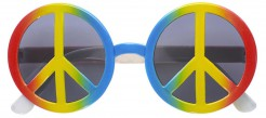 70er Peace Brille Hippie bunt
