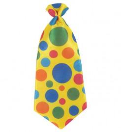 Clown Riesen Krawatte mit Punkten gelb-bunt