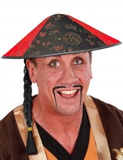 Chinesen-Hut Asiatischer Hut schwarz