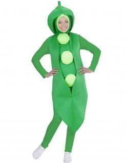 Erbsen-Kostüm für Erwachsene grün