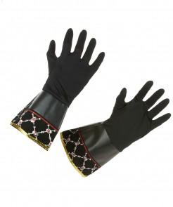 Piraten Handschuhe schwarz-gold