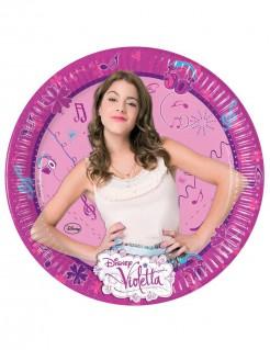 Violetta™ Pappteller Kindergeburtstags-Tischdeko 8 Stück bunt 23cm