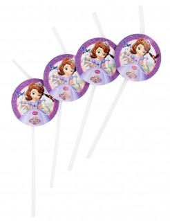 Disney Prinzessin Sofia Trinkhalme Party-Accessoire Lizenzware 6 Stück bunt