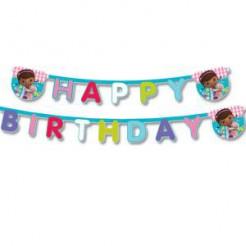 Doc McStuffins™ Geburtstagsgirlande Happy Birthday Lizenzware