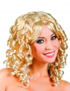 Süße Locken-Perücke für Damen blond